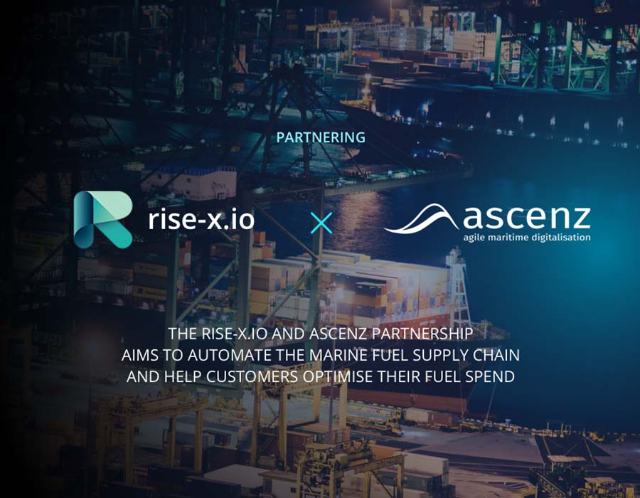Ascenz and rise-x.io in marine fuel optimisation and automation partnership