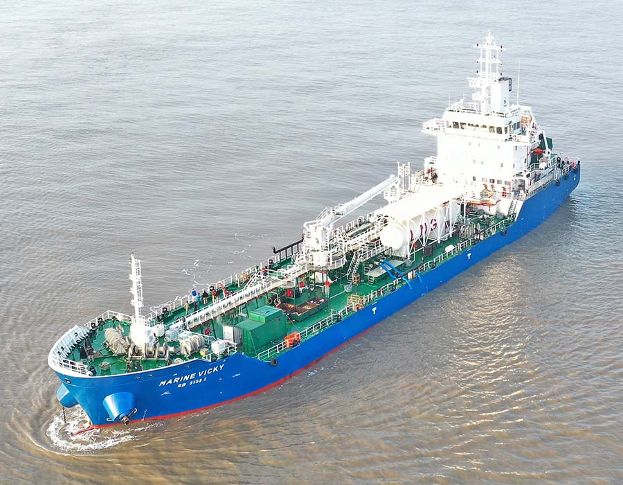 "Sinanju Tankers takes delivery of ""Marine Vicky"", ranks amongst fastest growing local firms"