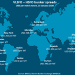 VLSFO-HSFO bunker spreads