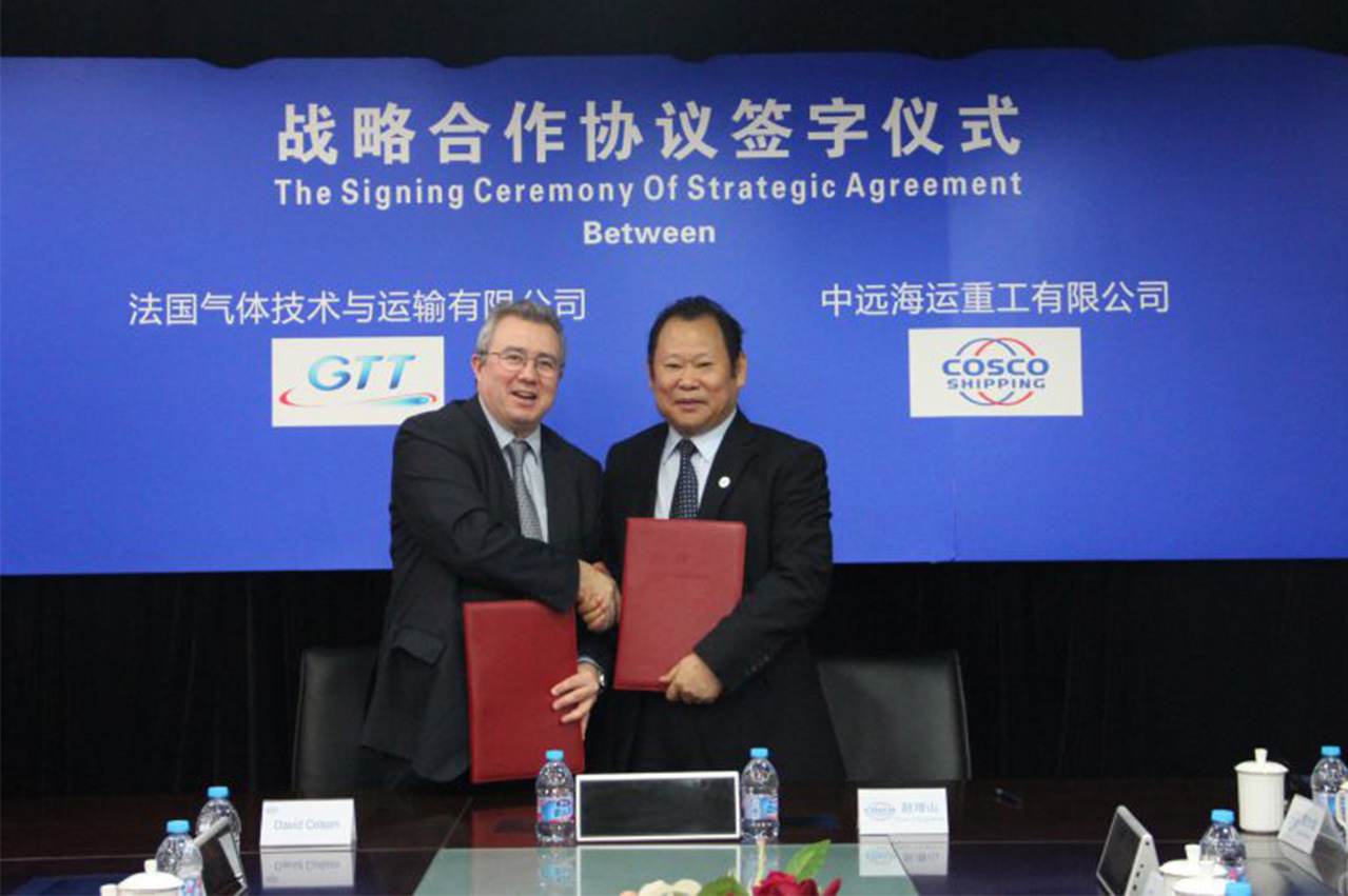 Cosco and GTT enter LNG-centric strategic agreements