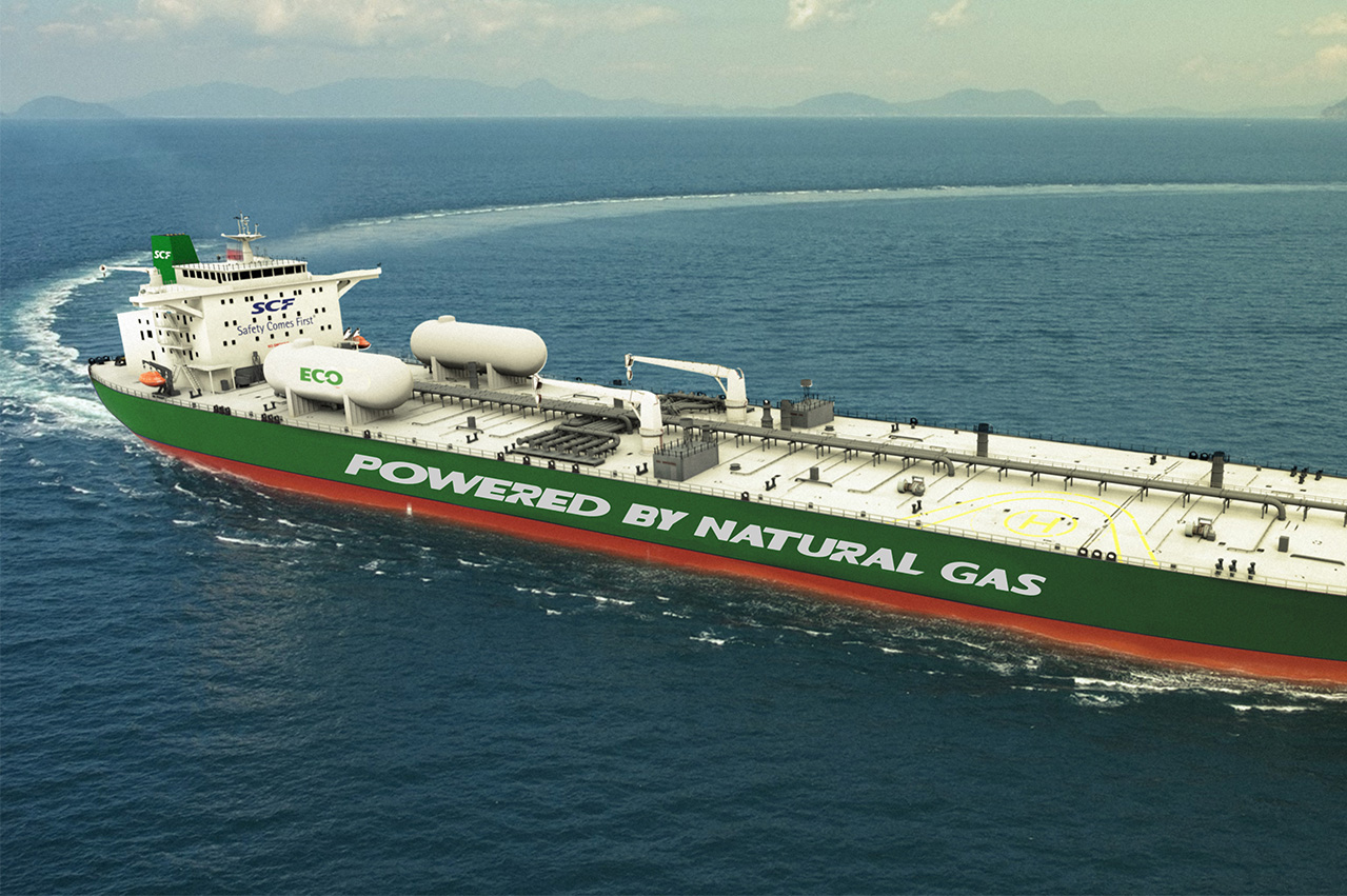 Shell charters LNG-fuelled Aframax duo from SCF Group