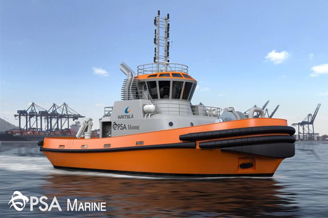 Singapore: PSA Marine tug to use LNG dual fuel engine