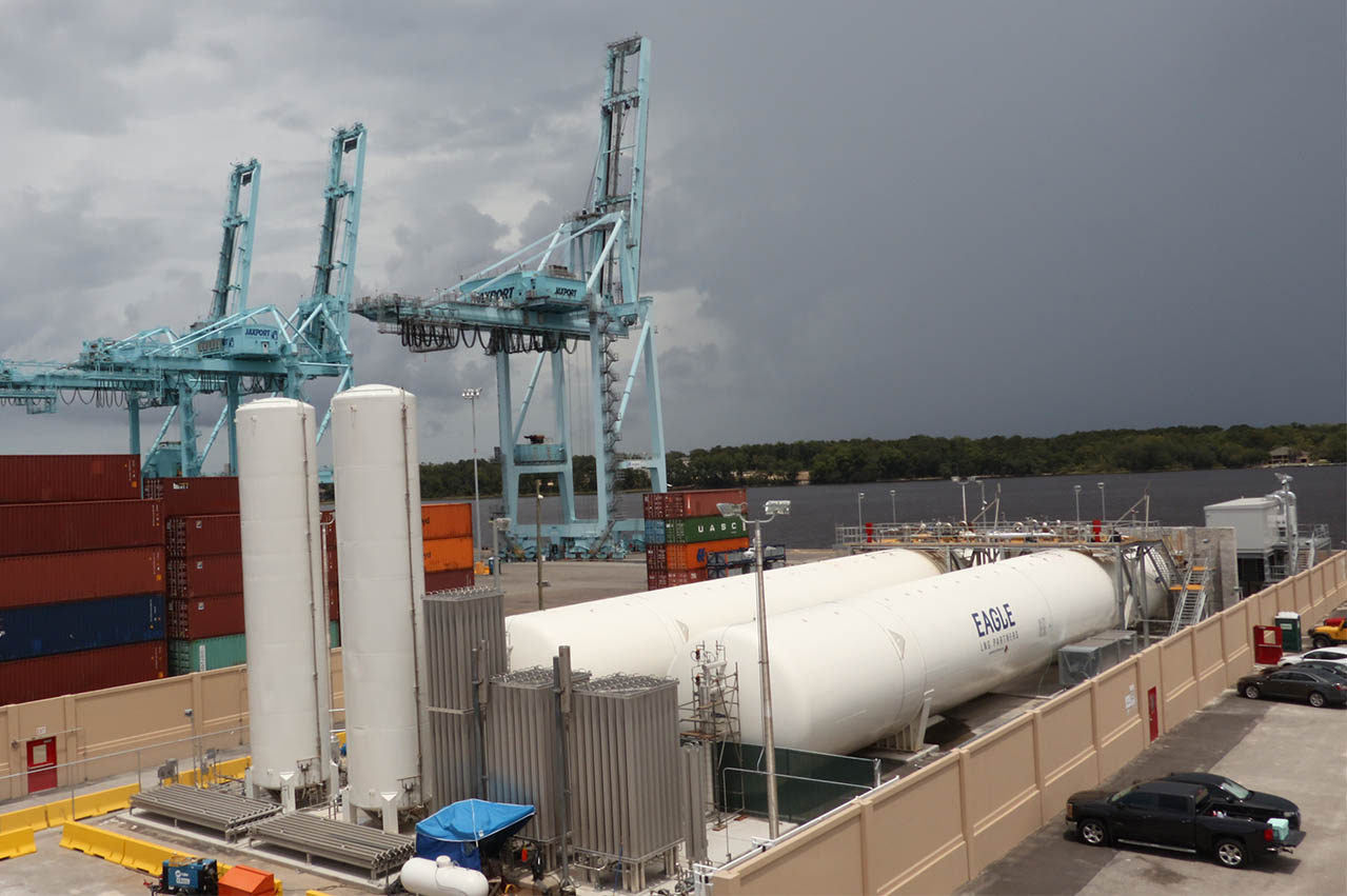 JAXPORT LNG bunkering facility nears completion