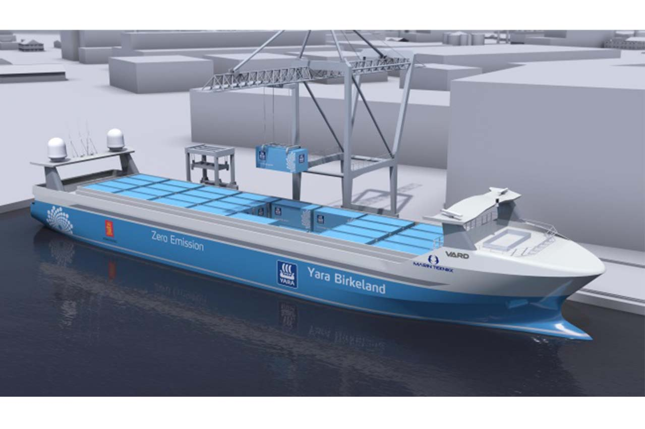 The world's first autonomous and electric boxship has just been ordered