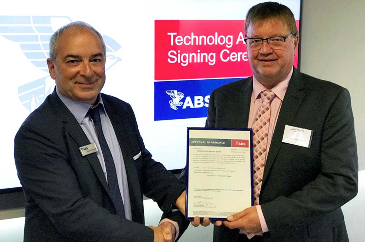 TECHNOLOG receives AiP for LNG marine fuel gas container system