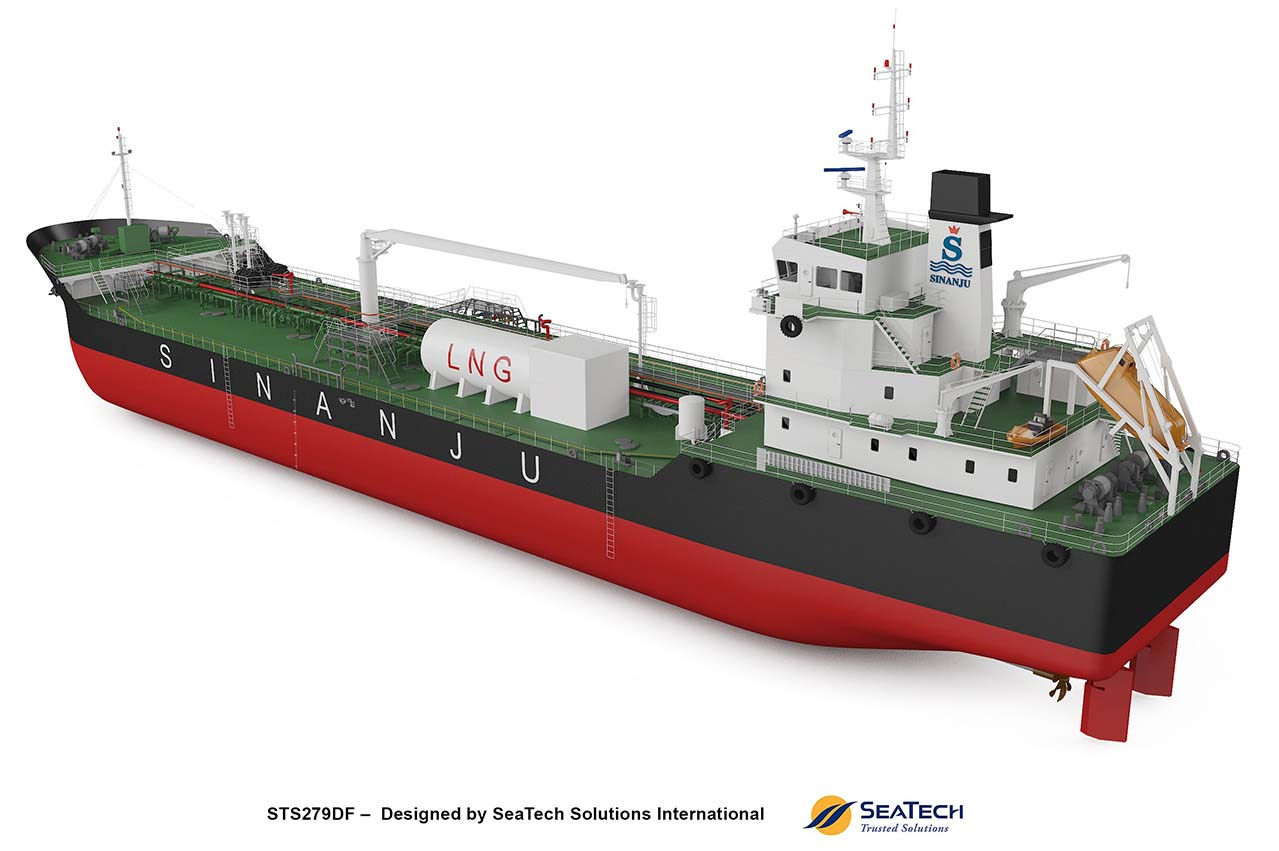 Sinanju LNG DF bunker tanker to use Yanmar LNG systems