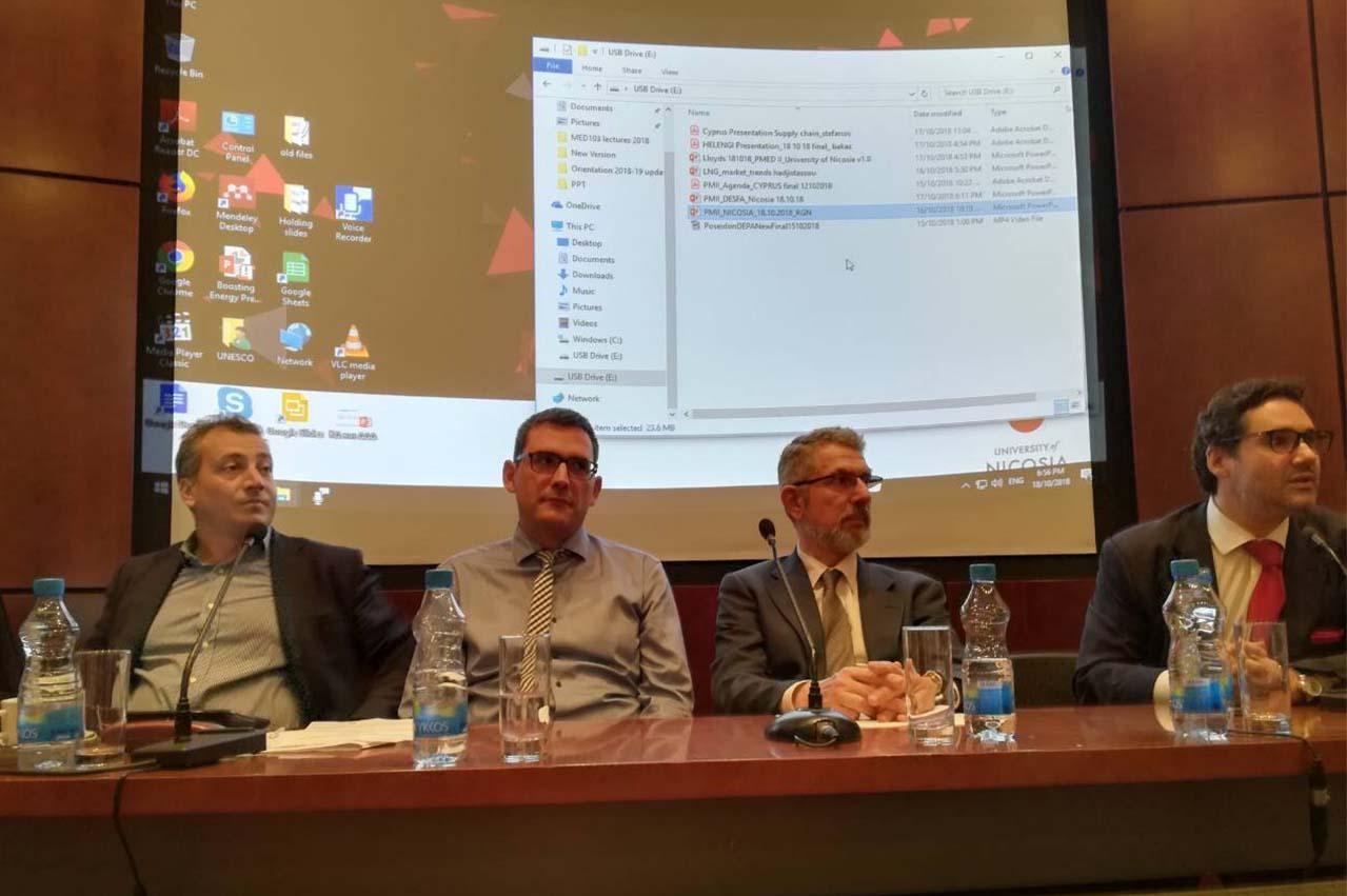 Poseidon Med II holds LNG bunker talks at University of Nicosia