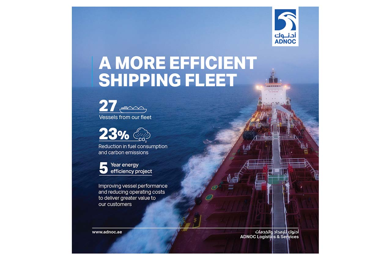 ADNOC L&S lowers fleet bunker consumption by 23% since 2013