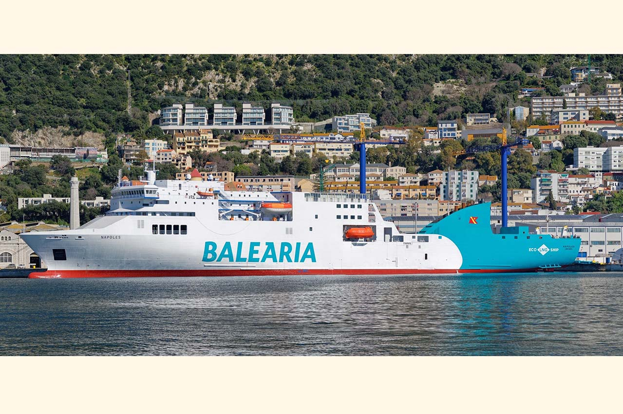 """Baleària adds LNG-fuelled converted ferry """"Napoles"""" to fleet"""