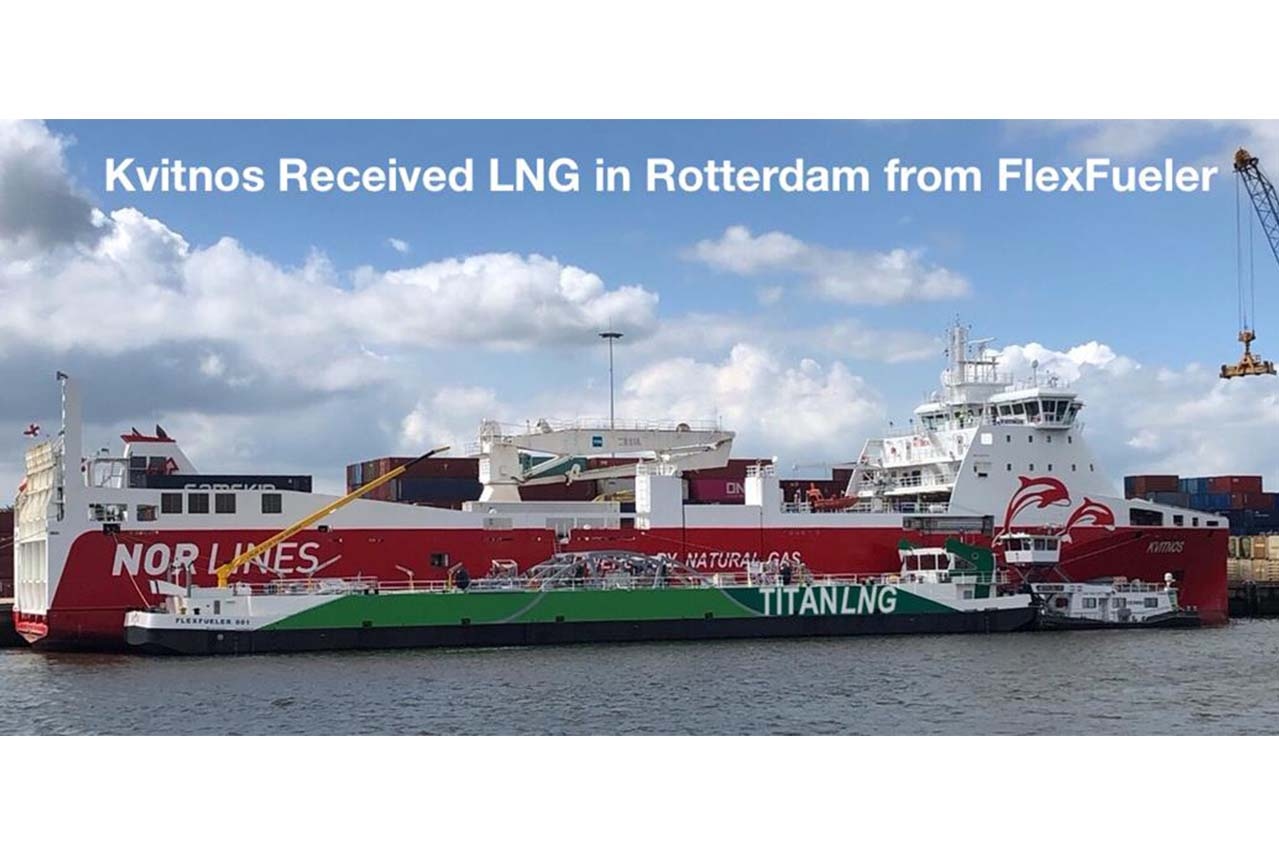 Titan LNG first inland LNG bunker barge starts operations at Rotterdam