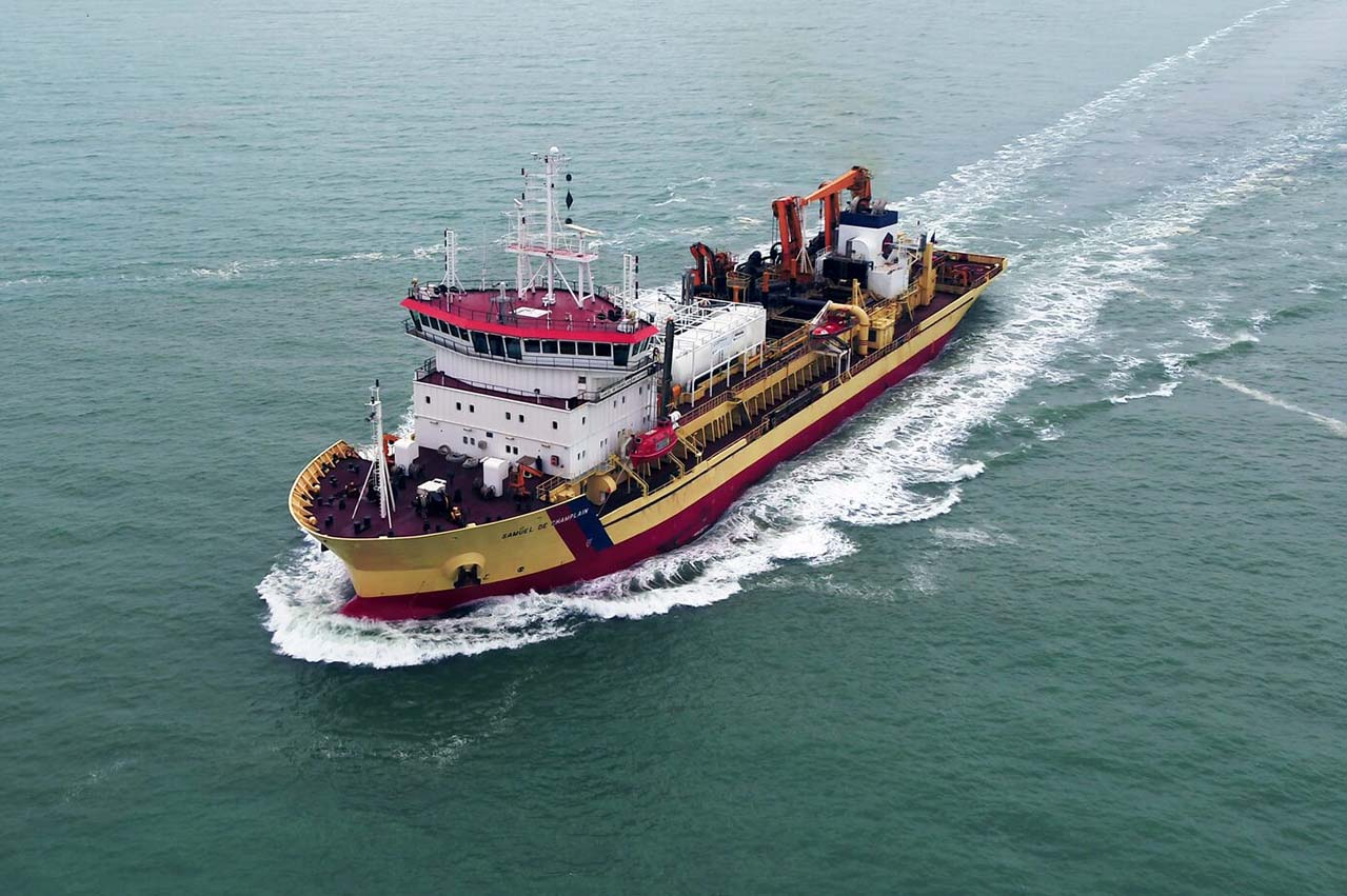 First successful conversion of a dredger to dual-fuel LNG / MGO