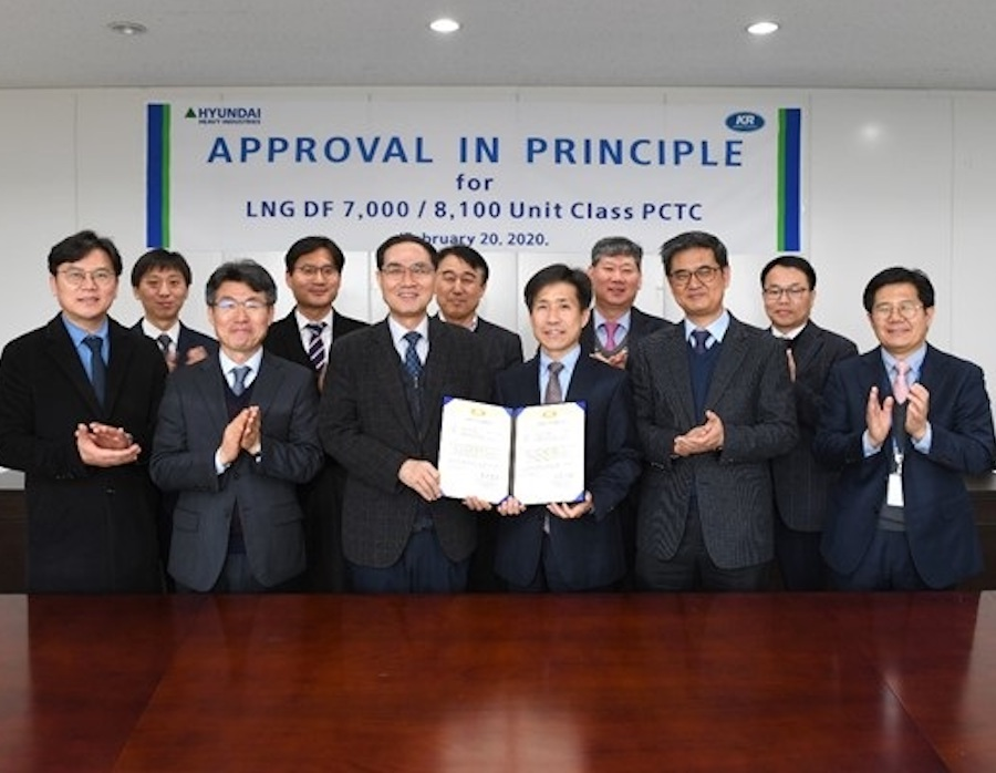 Korean Register grants AIP to HHI LNG dual fuel propulsion car carrier