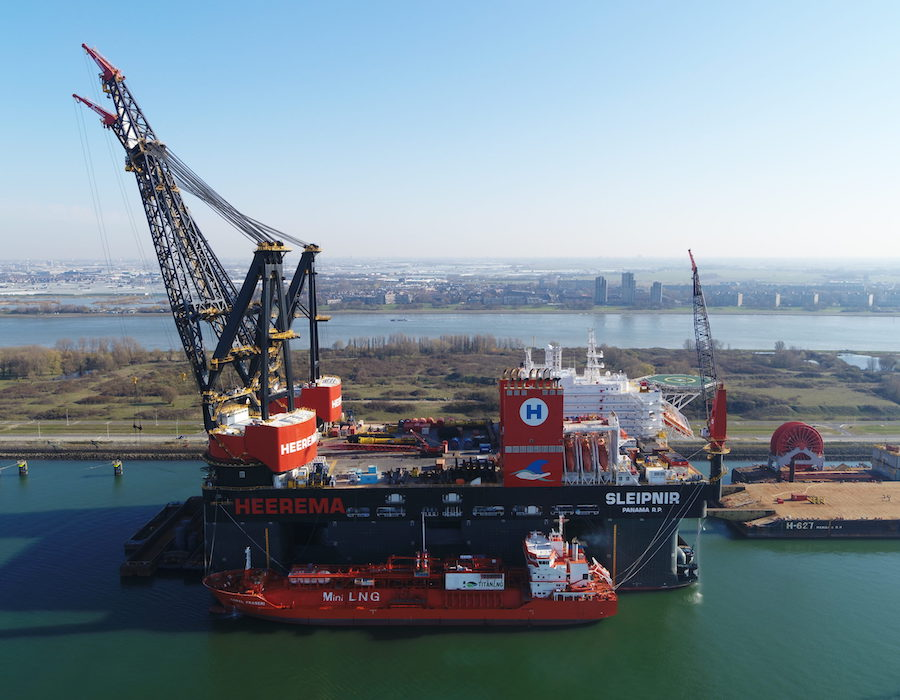 "Titan LNG completes largest LNG bunkering operation on Heerema's ""Sleipnir"""