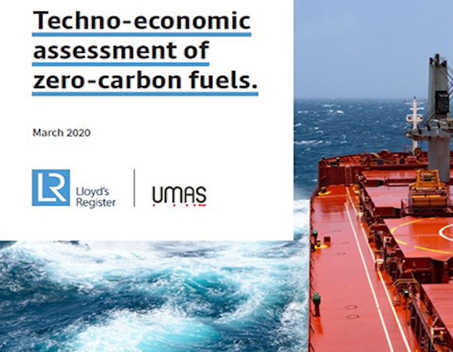 Lloyd's Register and UMAS publish Techno-economic assessment of zero-carbon marine fuels