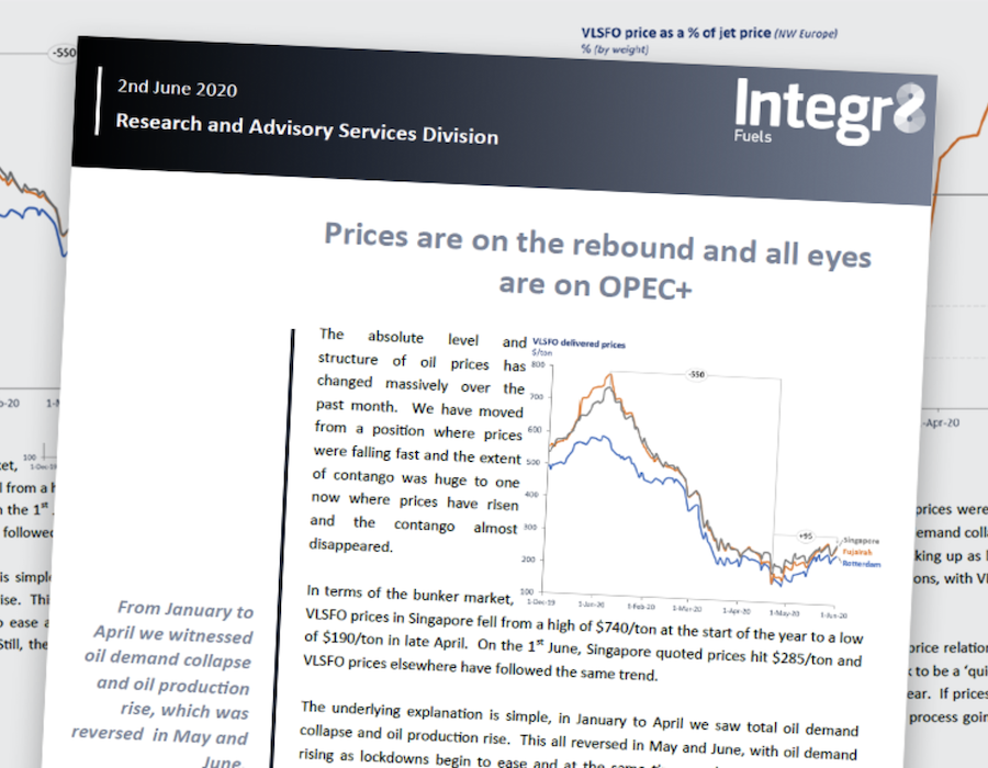 Integr8 Fuels: Prices are on the rebound and all eyes are on OPEC+