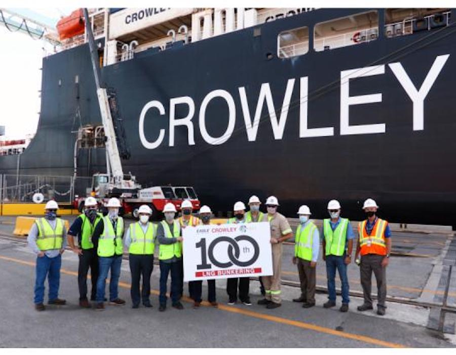 Eagle LNG celebrates centennial LNG bunkering event with expansion announcements