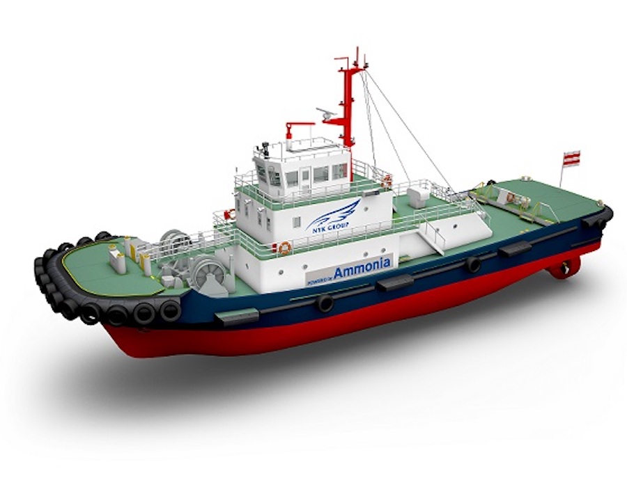 Japanese consortium to develop and build ammonia-powered tugboat