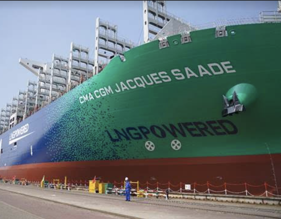 CMA CGM welcomes world's first LNG powered 23,000 TEU vessel in naming ceremony
