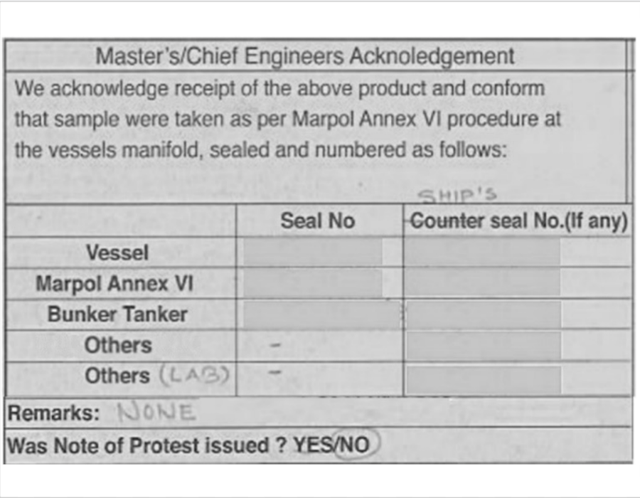 Case study for onboard safety meeting: Importance Of checking BDN before signing