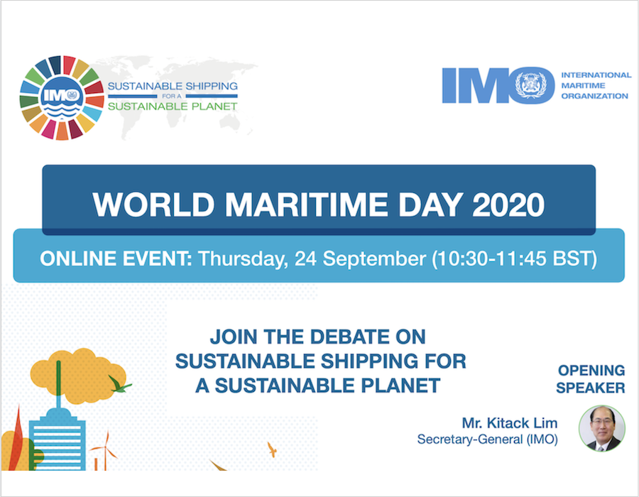 IMO hosts World Maritime Day 2020 – 'Sustainable Shipping for a Sustainable Planet'