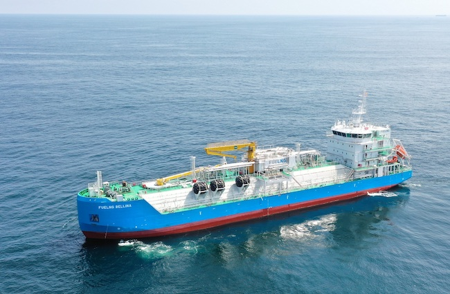 Singapore: First LNG bunker vessel 'FueLNG Bellina' begins commercial operations