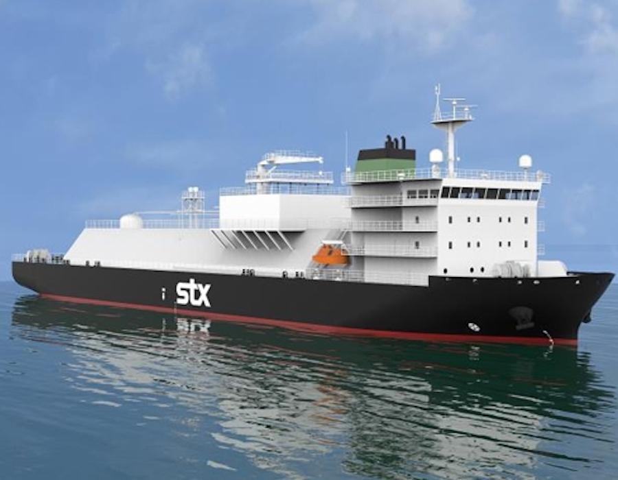 STX Offshore & Shipbuilding unveils 7,500 m3 capacity LNG bunkering vessel design
