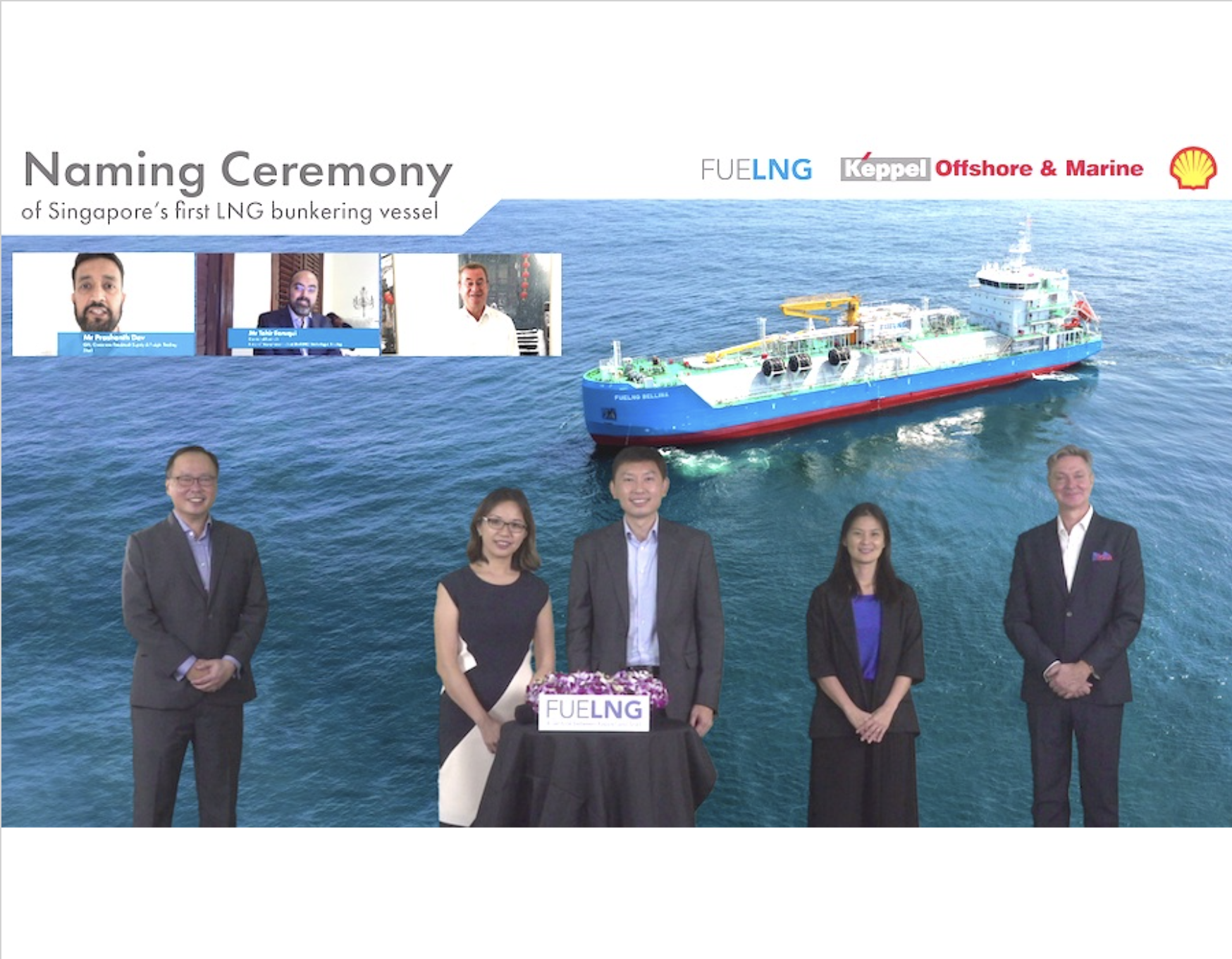 FueLNG holds naming ceremony for 'Bellina', first LNG bunkering vessel in Singapore