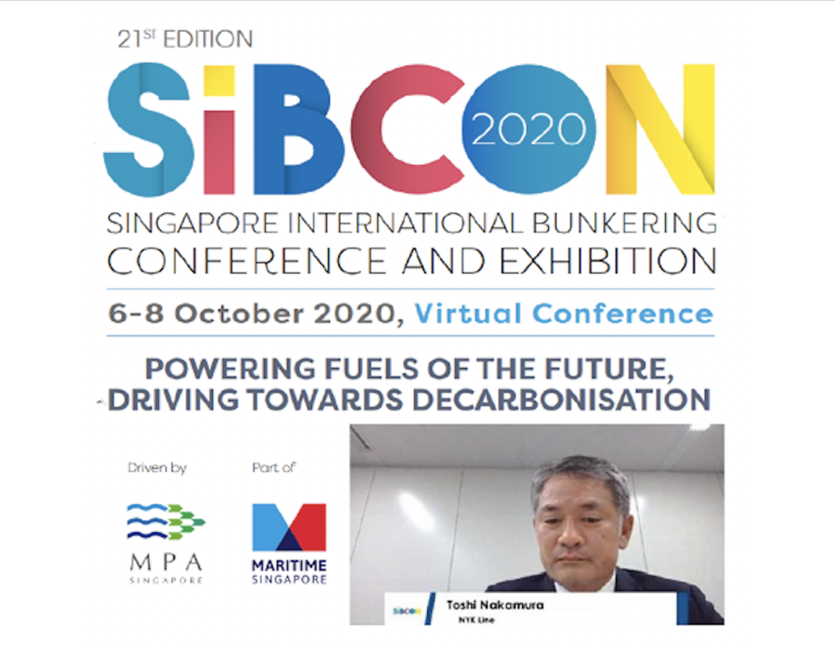 NYK line reveals decarbonisation plan in panel on alternative bunker fuels at SIBCON 2020