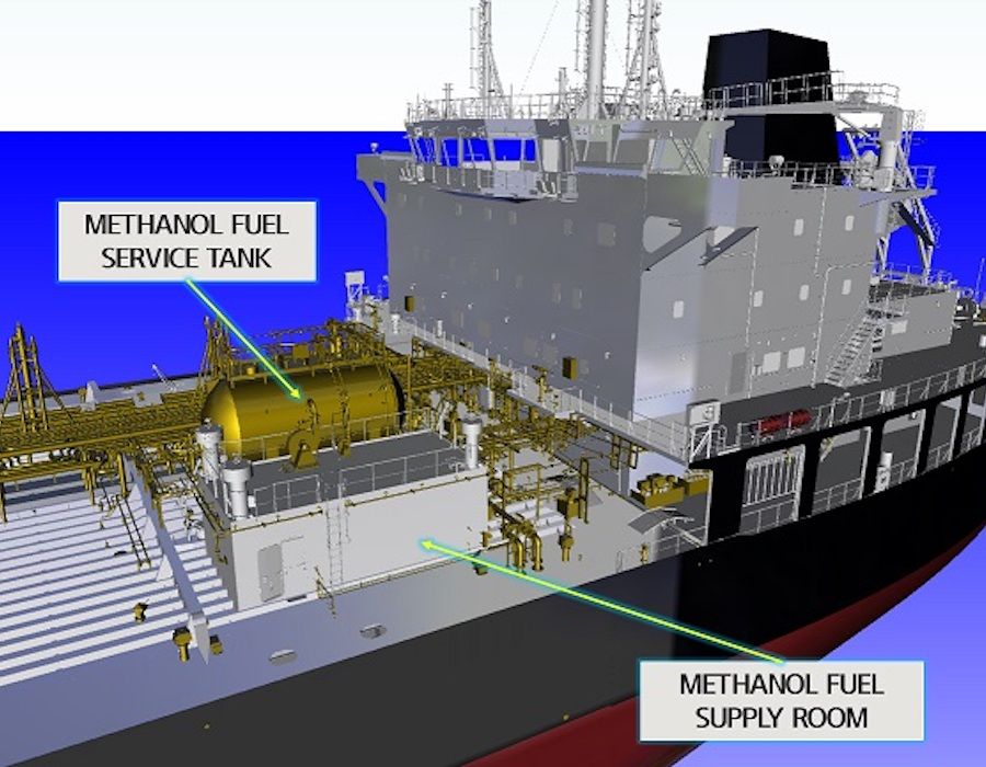 Industry leaders collaborate on standard design for methanol-powered product tanker