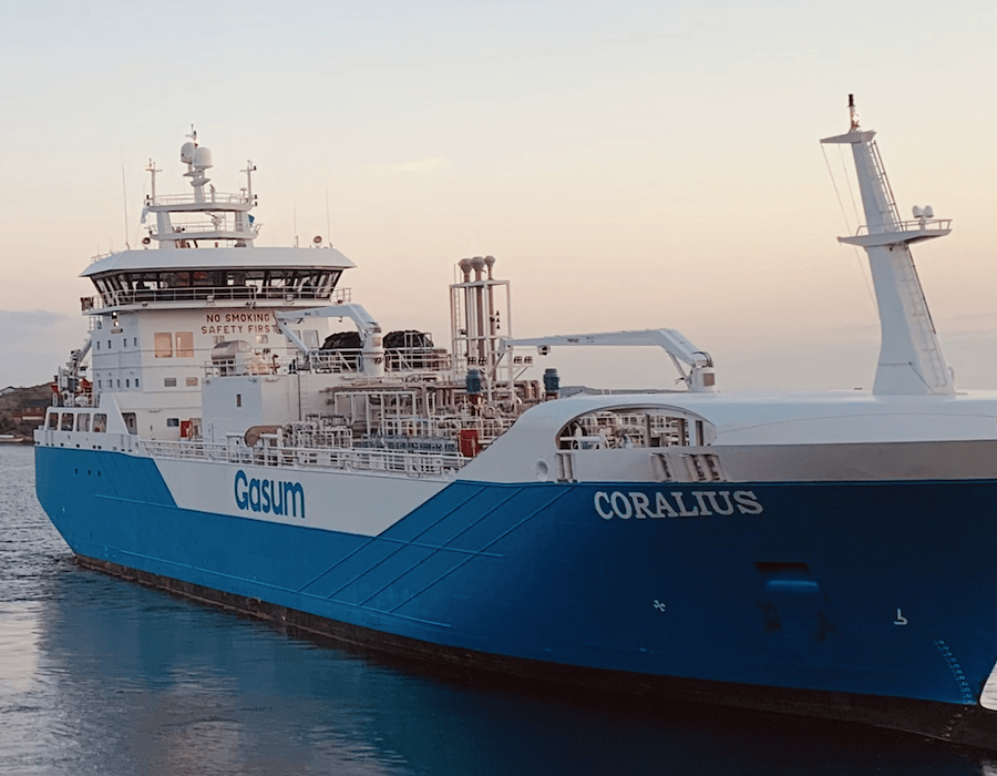 Gasum LNG bunker vessel 'Coralius' supplies record number of tankers in 12 hours