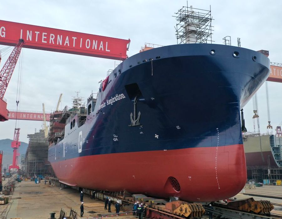 Avenir launches third LNG bunkering and supply vessel 'Avenir Aspiration'