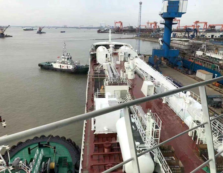 Furetank welcomes seventh LNG dual fuel ice class product tanker 'Fure Vinga'