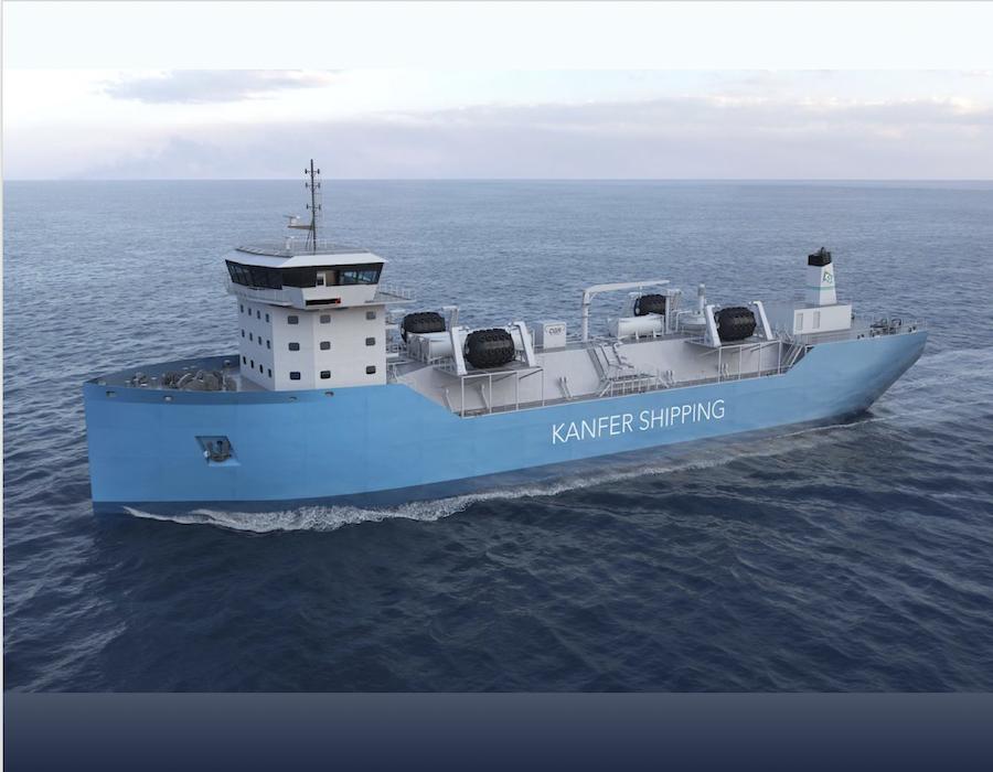 Taizhou Wuzhou Shipbuilding to build small-scale LNG bunker vessels for Kanfer Shipping
