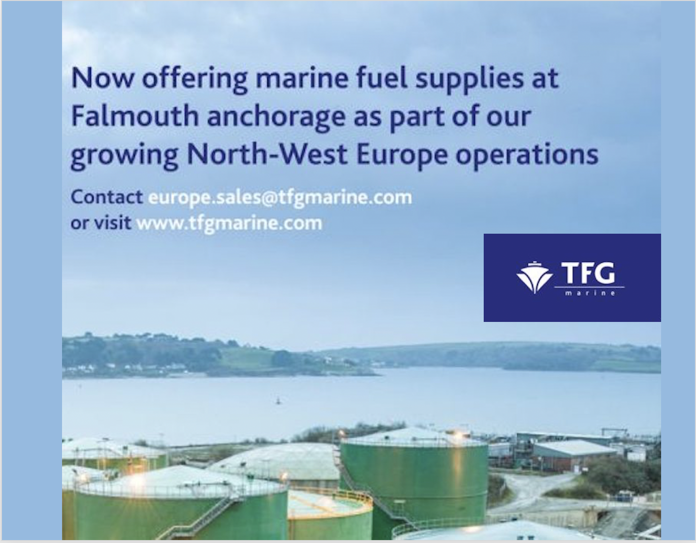 TFG Marine to commence bunkering operations at Falmouth Anchorage UK