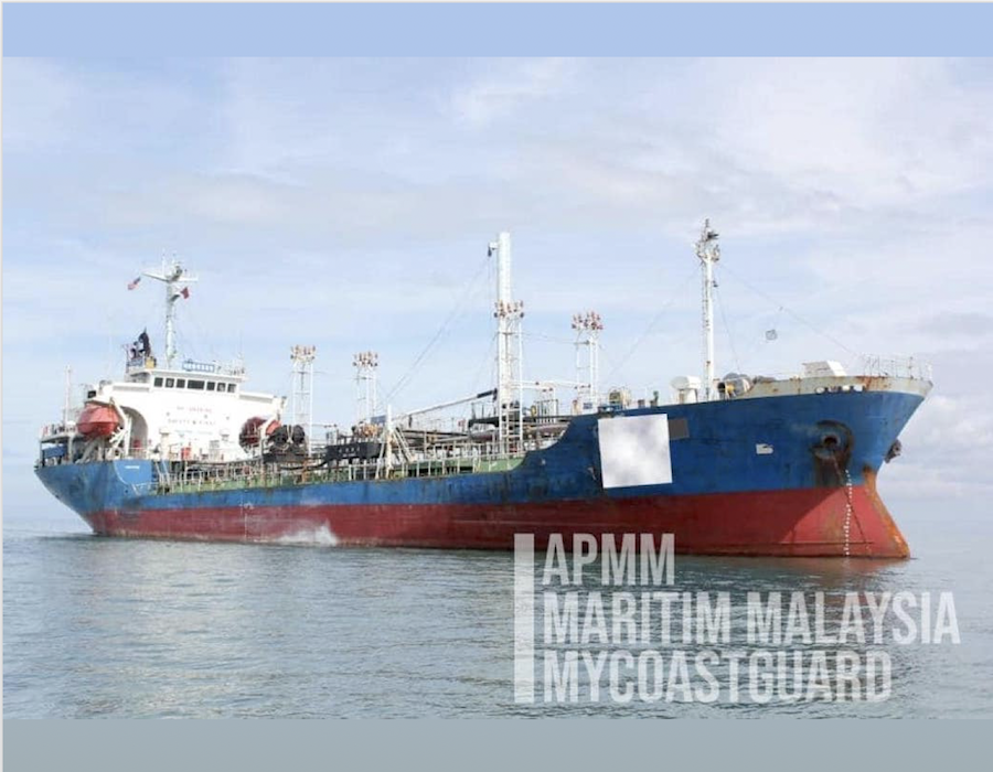 MMEA detains Thailand registered tanker for allegedly anchoring illegally in Selangor