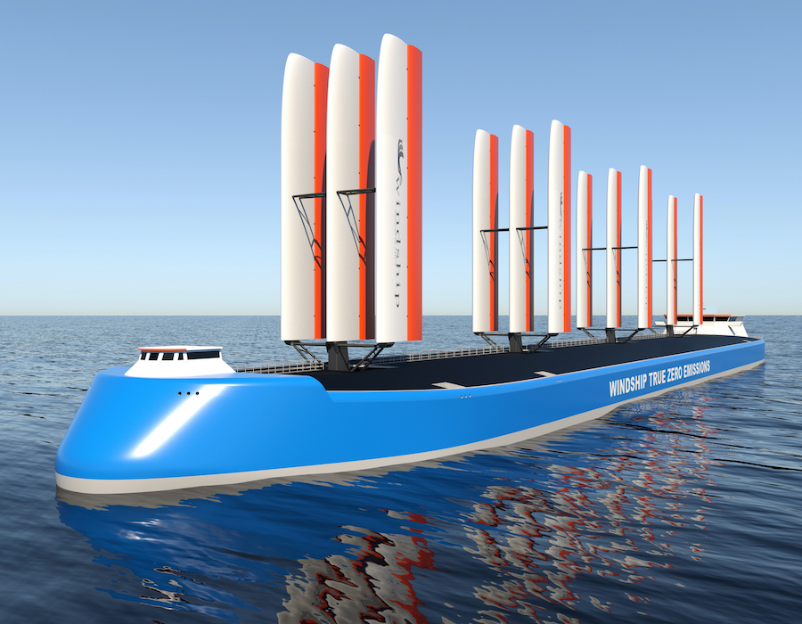 Windship Technology partners with DNV; unveils 'True Zero Emission' ship design