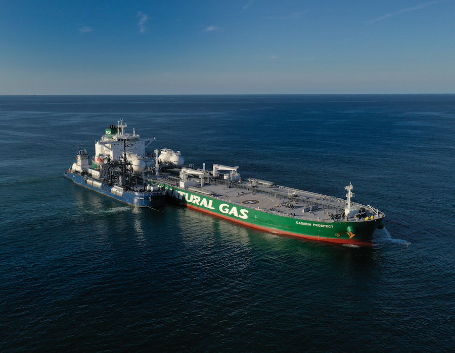 Sovcomflot and Shell completes first ever Aframax tanker LNG bunkering operation in U.S.