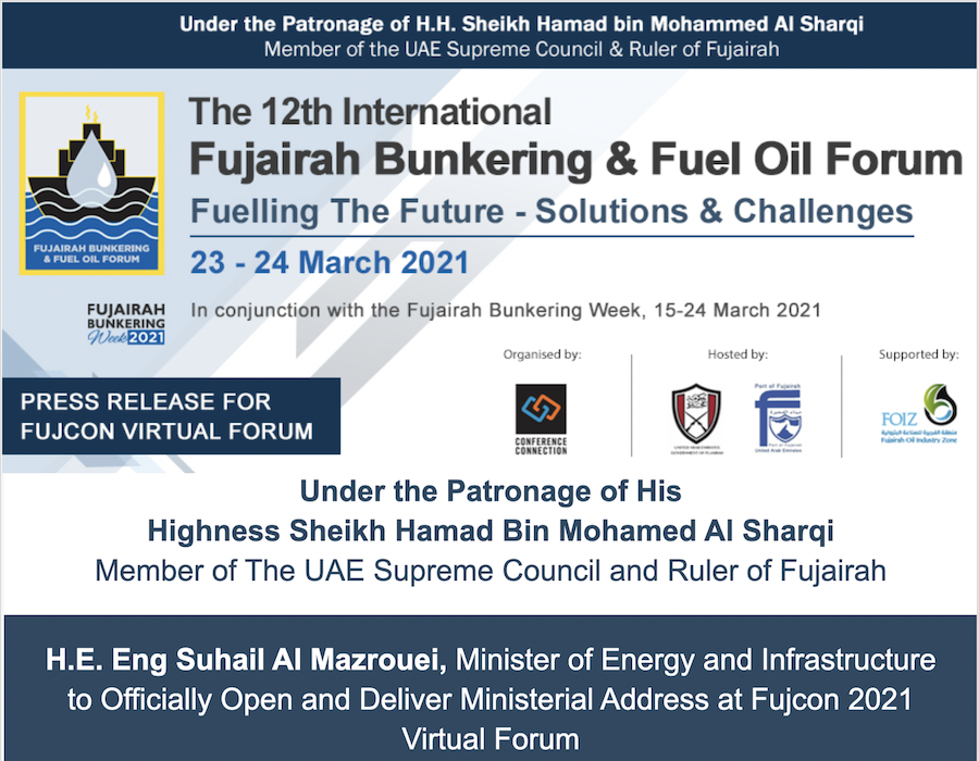 FUJCON 2021: Two-day main event of Fujairah Bunkering Week to commence