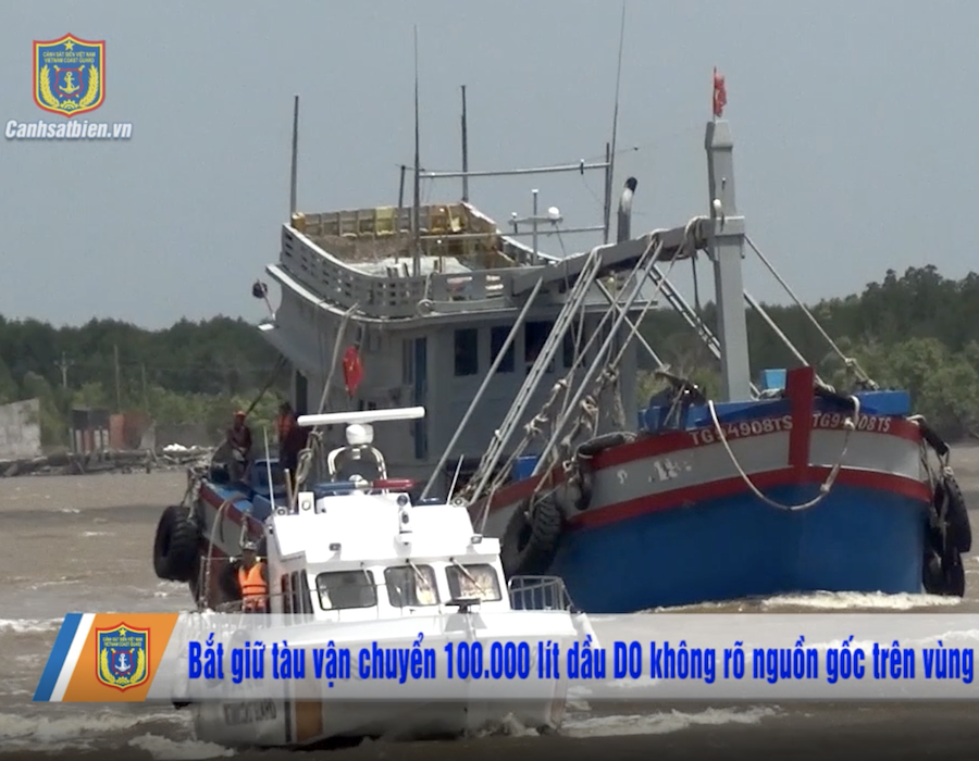 Vietnam Coast Guard detains modified fishing boat with 100,000 litres of DO