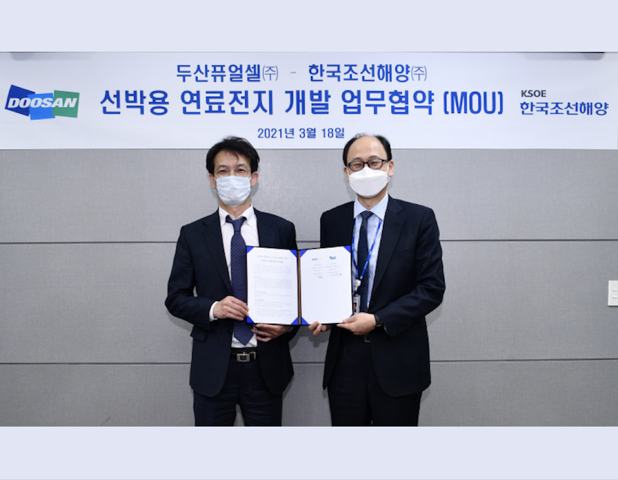 South Korea: Doosan Fuel Cell & KSME to jointly develop eco-friendly marine fuel cells