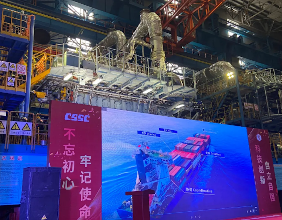China: CSSC subsidiary delivers first domestic low-speed LNG dual fuel marine engine