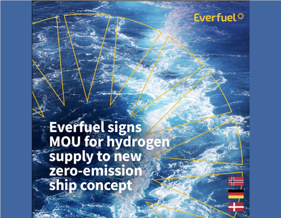 Everfuel inks MoU with shipping company to develop hydrogen bunker fuel supply