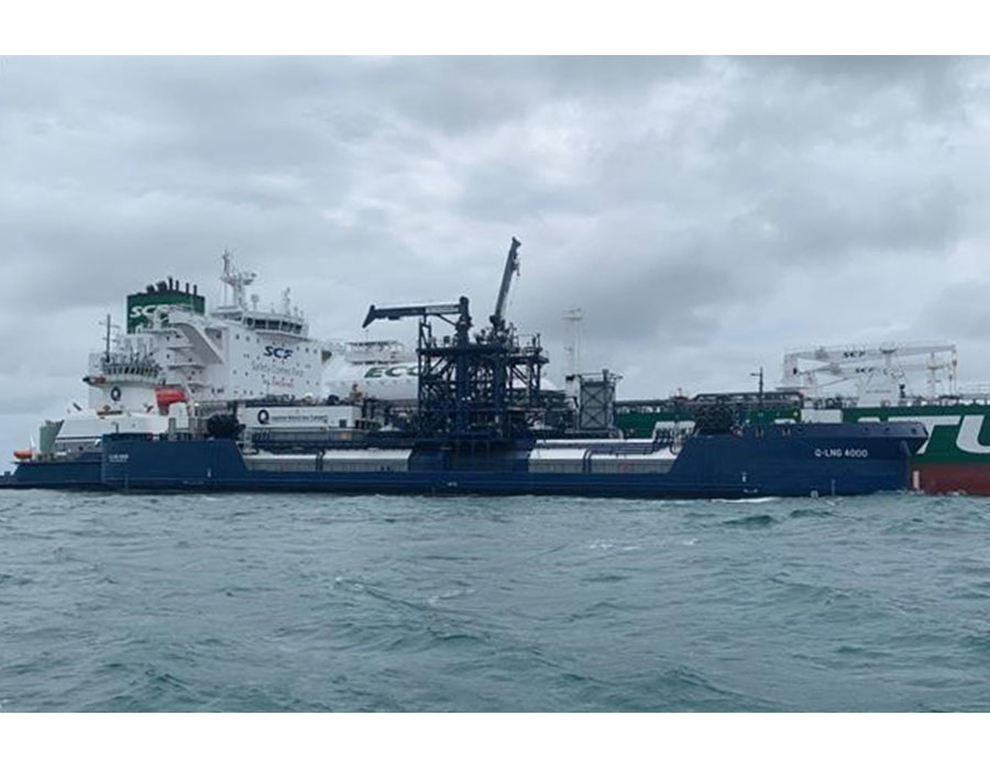 'Green Funnel' project celebrates 150th LNG bunkering op between SCF Group and Shell