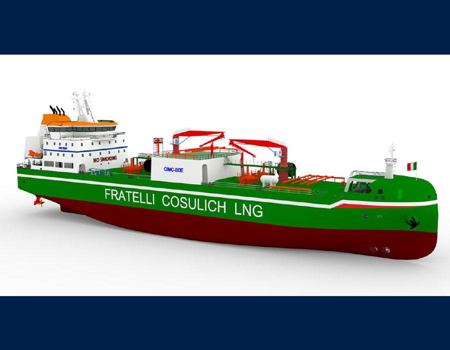 Fratelli Cosulich orders USD 45 million LNG bunkering vessel for Mediterranean Sea ops
