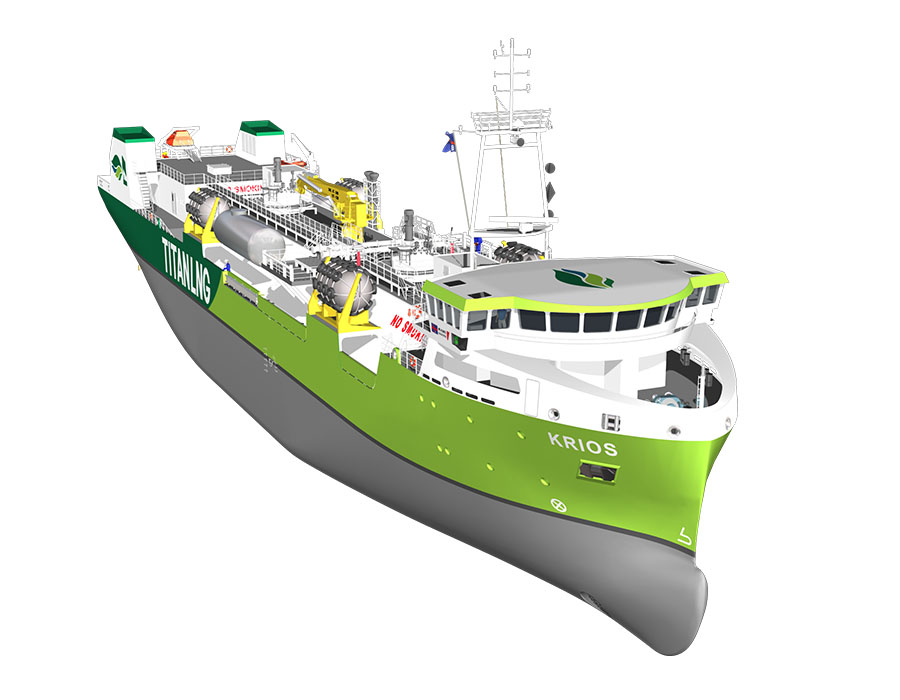 Titan LNG introduces 'Krios' to boost LNG marine fuel availability at Zeebrugge and English Channel regions