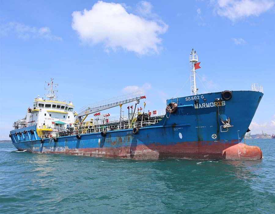 """Singapore: Bunker tanker """"Marmoris"""" resumes marine refuelling operations, says Ship Manager"""