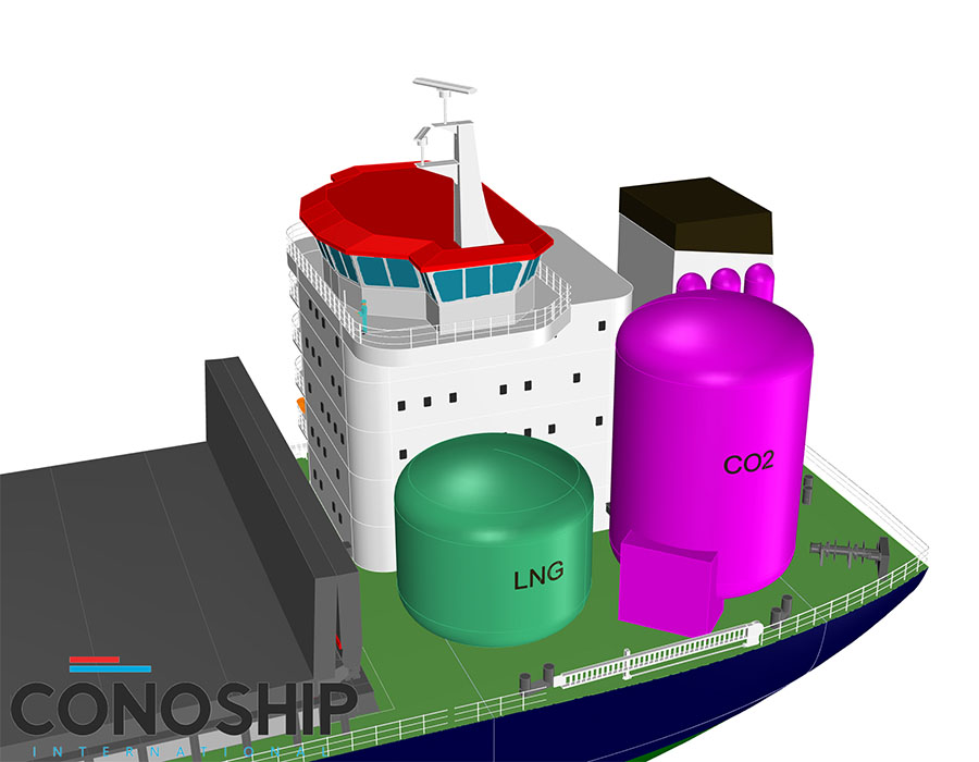 Conoship: 'Great progress' being made for CO2 capture from exhaust of LNG-fuelled ships