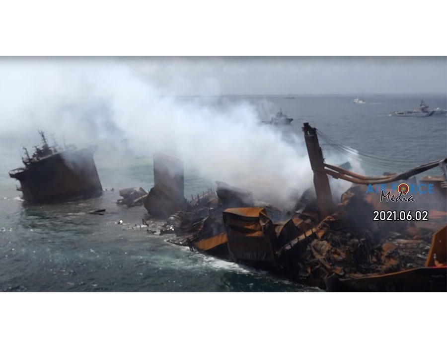 'X-Press Pearl' starts to sink off Sri Lanka's coast, no more towing needed, says Navy