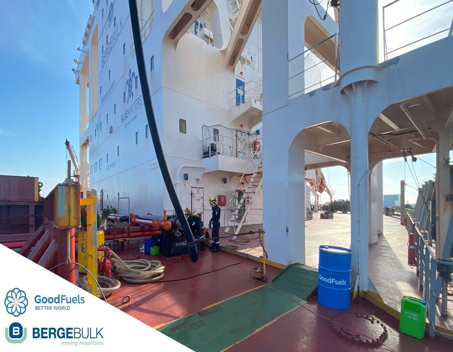 GoodFuels completes first bio-bunkering operation for Berge Bulk at Rotterdam