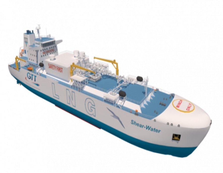 """GTT obtains AiPs from CCS and DNV for """"Ballast-water-free"""" LNG Bunker & Feeder vessel concept"""
